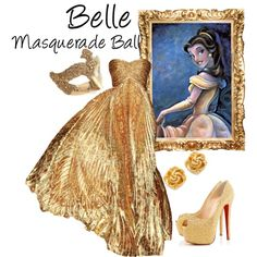 """""""Belle (Masquerade Ball)"""" by idmiliris Disney Dresses, Disney Outfits, Cute Outfits, Disney Character Outfits, Maskerade Outfit, Masquerade Ball Gowns, Masquerade Party Outfit, Venetian Masquerade, Masquerade Masks"""