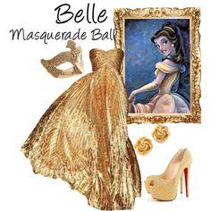 """Belle (Masquerade Ball)"" by idmiliris Disney Dresses, Disney Outfits, Cute Outfits, Maskerade Outfit, Masquerade Ball Gowns, Masquerade Party Outfit, Venetian Masquerade, Masquerade Masks, Venetian Masks"