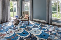 This beautiful den is composed of innovative materials and vibrant pattern. Talk about owning a rug that will compliment any room.