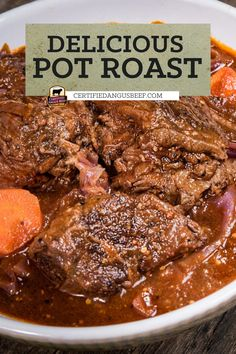 A classic meal of oven braised chuck roast and red cabbage, German Pot Roast is rich and hearty with onions, carrots, German mustard, and dark beer. #bestangusbeef #certifiedangusbeef #beefrecipe #beef #germanpotroast #potroast #beefdinner #comfortingdinner Best Beef Recipes, Beef Recipes For Dinner, Cooking Recipes, Favorite Recipes, Easy Roast Beef Recipe, Best Roast Beef, Beef Appetizers, Dark Beer, Good Roasts
