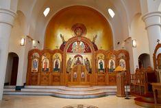 Church Interior Design, Orthodox Christianity, Orthodox Icons, Byzantine, Taj Mahal, Christians, Angels, Studio, Crafts