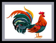 Rooster Cutout, Farm Animal Cutout, Rooster Template, Stylized Rooster Image, Classic Rooster,Farm Animal Cutout, Farm Animal Wall Décor Art by DigitalArtMovement on Etsy