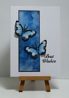 handmade card: Blue butterfly panel.                                                                                                                                                                                 More