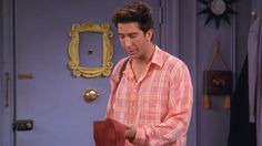 Ross ~ Friends Episode Pics ~ Season Episode The One With the Red Sweater Friends Season 8, Ross Friends, Friends Episodes, Ross Geller, David Crane, Monica And Chandler, Ross And Rachel, David Schwimmer, Ensemble Cast