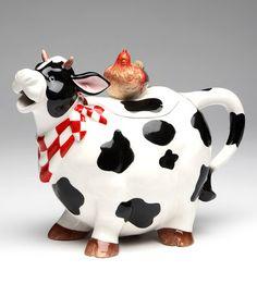 Look what I found on #zulily! Cow Teapot #zulilyfinds