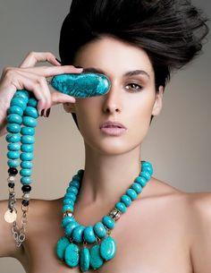 With extraordinary jewelry
