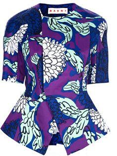 Marni Printed Peplum Waist Jacket