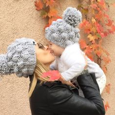 When chilly days press in, put on your cute, soft, merino wool knit beanie. The perfect silhouette for any aesthetic with a fluffy pompom updating the classic look. Knitwear Fashion, Knit Fashion, Knitting Projects, Sewing Projects, Kids Winter Hats, Baby Boy Crochet Blanket, Crochet For Boys, Winter Warmers, Knitting For Beginners