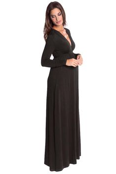 Olian Lucy Long Sleeve Maternity Maxi Dress | Designer Maternity  www.duematernity.com