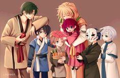 Akatsuki no Yona / Yona of the Dawn anime and manga || Happy Family ;-; this is so heartwarming. Zeno - Ouryuu - Yellow Dragon - Princess Yona - Hak - Shin ah - Seiryuu - Blue dragon - Jae ha - Ryokuryuu - Green Dragon - Kija - Hakuryuu - White Dragon - Yoon