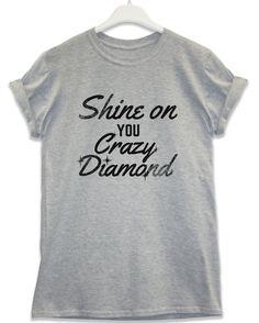 Crazy Diamond - Lyric Quote T Shirt - Sport Grey / Large