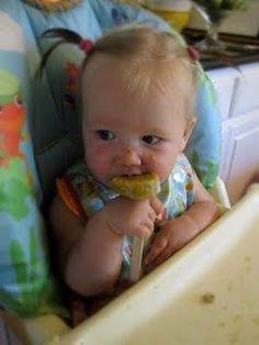 Freeze baby food for teething babies @Nicole Allen