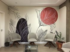 Home Wall Painting, Creative Wall Painting, Wall Drawing, Mural Wall Art, Aesthetic Room Decor, Home Room Design, Inspiration Wall, Wall Design, Decoration
