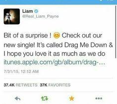 The new single Drag Me Down is sooooooooooooooooooooooooooooooooooooooooooooo  good!!!!!!!!!!!!!!!