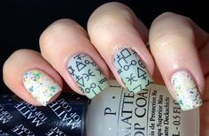 Nail Polish Wars: Is there a rune for that?  Not for the colours, but for the MESSY MANSION plate! (MM lily Anna 08) alchemical symbols