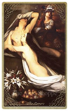 Ill spent time with the Succubi. Also The Lovers Card in our #halloween #tarot The Attic Shopping Trading Company Catalog » Halloween Tarot