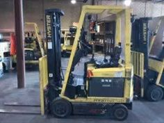 Two 2007 Hyster E35Z 3,500lb Electric Forklifts