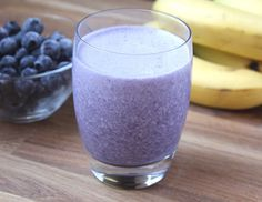 Blueberry, Spinach, and Chia seed smoothie