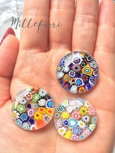 ミルフィオリのボタン の画像|京都・シュールデコール/ポーセラーツ教室 maison de blanc(メゾン・ド・ブラン)