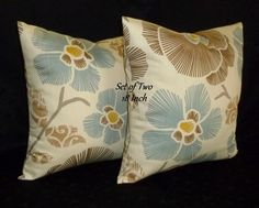 Throw Pillows Pillow Covers Decorative Pillows  Cream by berly731, $34.00