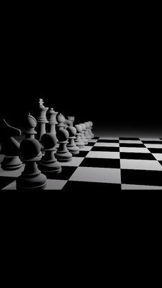 Black+White chess pieces