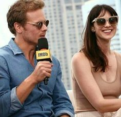 Sam Heughan and Caitriona Balfe at the San Diego Comic Con festival - Outlander_Starz Season 3 Voyager - July 21st, 2017