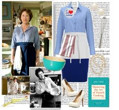"""""I'm Julia Child!"" DIY costume"" by fashionistajane1 ❤ liked on Polyvore"