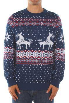Christmas Sweater pour Homme Unisexe Tesco Valeur de Noël Santa Cadeau Pull Blanc