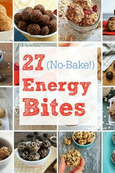 If you need quick and healthy snacks to keep on hand, here are 27 recipes for no-bake energy balls that are packed with wholesome ingredients and easy to make. Healthy Snack Options, Healthy Snacks For Kids, Easy Snacks, Healthy Recipes, Healthy Eating, Snacks Recipes, Veggie Recipes, Drink Recipes, Healthy Meals