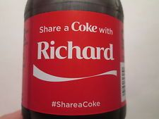 Share a Coke with RICHARD-2015 LIMITED EDITION  20 oz. Coca-Cola-Hard to Find