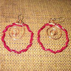 Pinterest inspired crocheted earings