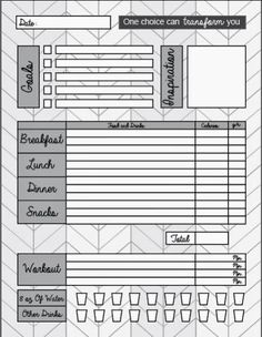 printable food journal weight loss nifty ideas pinterest