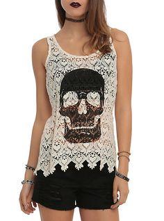 http://www.hottopic.com/hottopic/Girls/Tanks/Ivory Crochet Skull Girls Tank Top-10336504.jsp
