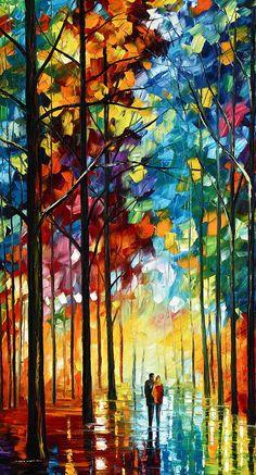 Title: Autumn Light Artist: Leonid Afremov Medium: Painting - Oil On Canvas With A Palette Knife