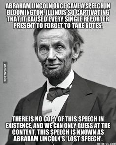 I'd love to know what that speech is about