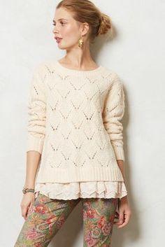 diamond stitch pullover / anthropologie... love this!