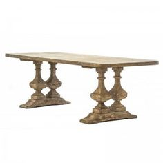 High on Style & design, Aidan Gray Home brings modern coffee tables, round side table, French dining tables online for sale at wholesale prices. Trestle Dining Tables, Pedestal Dining Table, Dining Table Design, Dining Room Table, Dining Rooms, Kitchen Tables, Kitchen Ideas, Kitchen Design, French Country Dining Table