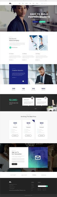 Moody is a vibrant multipurpose #PSD template for stunning #business website with 25 unique homepage layouts and 40 organized PSD files download now➩ https://themeforest.net/item/moody-vibrant-multipurpose-psd-template/19652971?ref=Datasata