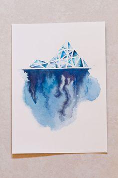 Iceberg series The Storm Beneath Original by dabblelicious