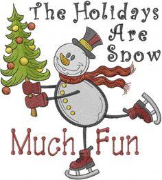 Snow Much Fun Embroidery Design | AnnTheGran