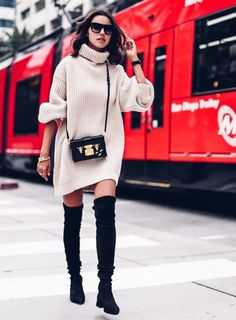 16 Ways to Wear Over-the-Knee Boots | Sydne Style | Bloglovin'