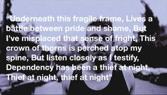 Neon Cathedral - Macklemore. Omg. This song cuts me to the core every time. So real.