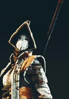 """kainhurst: """" For Honor Classes - Nobushi """"The Nobushi are the defenders of the villages too far from the Imperial City for the army to reach. They are elegant fighters with a curious weapon. Cosplay Ideas, Costume Ideas, Renaissance Fair Costume, Samurai Artwork, Defenders, Discord, Swords, Dungeons And Dragons, Sculptures"""