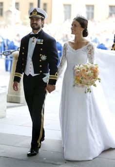 The bridal couple; wedding of Prince Carl Philip of Sweden and ms. Sofia Hellqvist on June 13, 2015