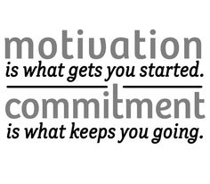 Not quite. Motivation gets me inspired. Commitment gets me started. Focused consistent action gets me manifesting.