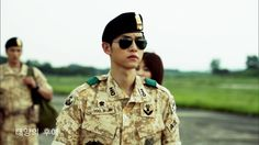 Song Joong Ki 송중기 as Captain Yoo Si Jin 유시진 for Descendants of the Sun 태양의 후예. Can't wait!!