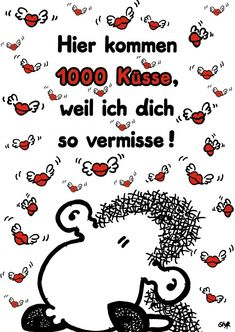 1000 Küsse | sheepworld | Echte Postkarten online versenden | sheepworld