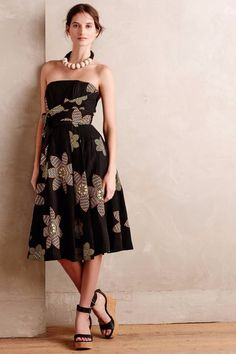 NWT ANTHROPOLOGIE by TRACY REESE TROPICAL TWILIGHT STRAPLESS SURPLICE DRESS 6 #TracyReese #FitFlare #Cocktail