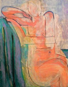 Henri Matisse, Pink Nude Seated. Oil on canvas