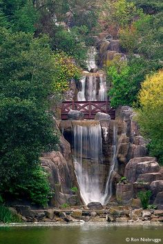 Huntington Falls at Stow Lake, Golden Gate Park, San Francisco, California.